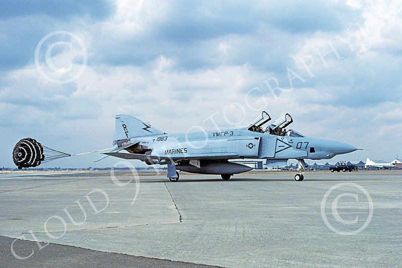 F-4USMC 00427 A McDonnell Douglas RF-4B Phantom II USMC 1983 VMFP-3 EYES OF THE CORPS RF Bergstrom AFB Oct RF code 1985 military airplane picture by Carl E Porter