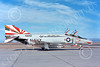 F-4USN 00871 A taxing sharkmouth McDonnell Douglas F-4 Phantom II US Navy 1000 VF-111 SUNDOWNERS commanding officer's plane USS Coral Sea NAS Fallon 5-1976 military airplane picture by Michael Grove, Sr