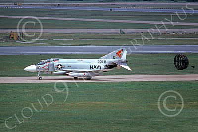 F-4USN 00799 A taxing McDonnell Douglas F-4J Phantom II US Navy 153076 VAQ-33 FIREBIRDS 7-1978 military airplane picture by Michael Grove, Sr