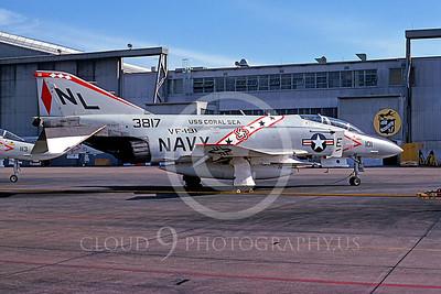 BICEN-F-4 00009 McDonnell Douglas F-4 Phantom II USN VF-191 NAS Miramar Oct 1976 by Peter J Mancus