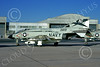 F-4USN 00835 A static McDonnell Douglas F-4J Phantom II US Navy 153819 VF-96 FIGHTING FALCONS USS Constellation NAS Miramar 10-1973 military airplane picture by Peter Bergagnini