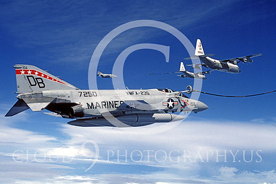ARF4 00004 McDonnell Douglas F-4J Phantom II VMFA-235 DB refuels from a KC-130 by Peter J Mancus