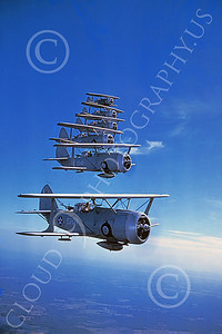 Curtiss SBC-3 Helldiver 00002 Six in-flight US Navy Curtiss SBC-3 Helldiver biplanes, Official US Navy Photograph