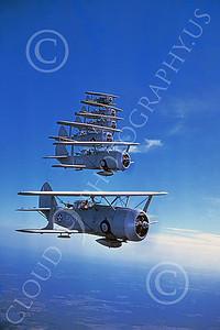 Curtiss SBC-3 Helldiver 00002 Six in-flight US Navy Curtiss SBC-3 Helldiver biplanes, Official US Navy Photograph