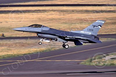 F-16ANG 00162 Lockheed Martin F-16 Fighting Falcon Montana Air National Guard 86309 Kingsley Field Aug 1989 by Peter J Mancus