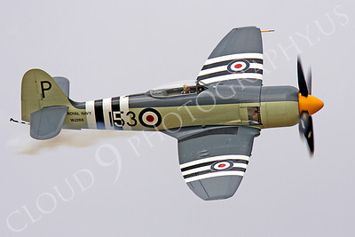 WB - Hawker Sea Fury 00018 Hawker Sea Fury British Royal Navy Korean War era fighter warbird by Peter J Mancus