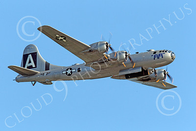 WB - B-29 00010 Fifi, a World War II era US Army Air Force Boeing B-29 Superfortress warbird, in flight airplane picture, by Peter J Mancus