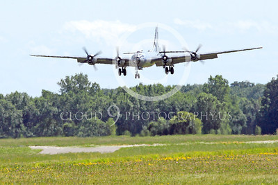WB - B-29 00012 Fifi, a World War II era US Army Air Force Boeing B-29 Superfortress warbird on final approach at the Oshkosh 2011 airshow, by Peter J Mancus
