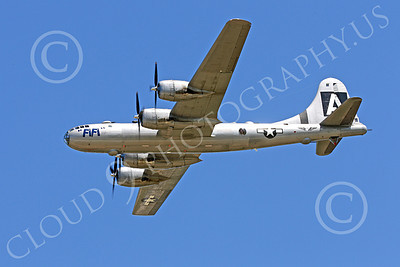 WB - B-29 00004 An in-flight gear up World War II era US Army Air Force Boeing B-29 Superfortress warbird, Fifi, airplane picture, by Peter J Mancus