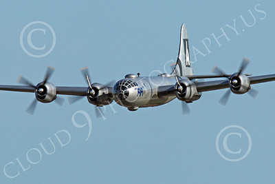 WB - B-29 00002 An in-flight gear up World War II era US Army Air Force Boeing B-29 Superfortress warbird, Fifi, airplane picture, by Peter J Mancus