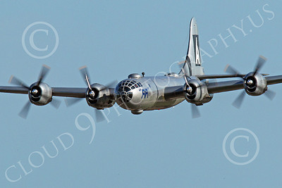 WB - B-29 00002A An in-flight gear up World War II era US Army Air Force Boeing B-29 Superfortress warbird, Fifi, airplane picture, by Peter J Mancus
