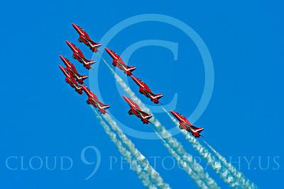 Red Arrows 00024 Red Arrows BAE Hawk British RAF by Stephen W D Wolf
