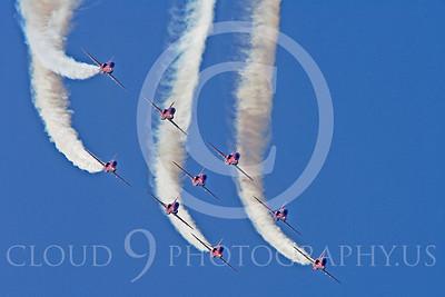 Red Arrows 00001 Red Arrows BAE Hawk British RAF by Stephen W D Wolf