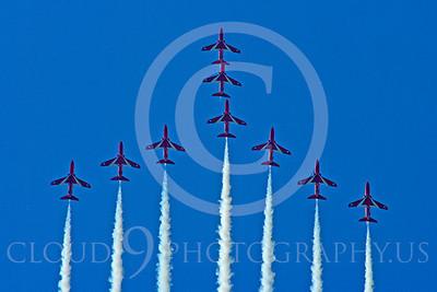 Red Arrows 00036 Red Arrows BAE Hawk British RAF by Stephen W D Wolf