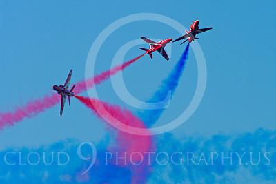 Red Arrows 00032 Red Arrows BAE Hawk British RAF by Stephen W D Wolf