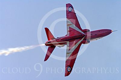 Red Arrows 00090 Red Arrows BAE Hawk British RAF by Stephen W D Wolf