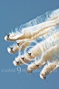Red Arrows 00048 Red Arrows BAE Hawk British RAF by Stephen W D Wolf