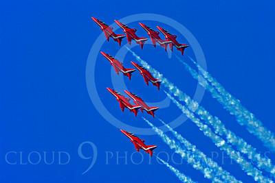 Red Arrows 00028 Red Arrows BAE Hawk British RAF by Stephen W D Wolf
