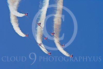 Red Arrows 00098 Red Arrows BAE Hawk British RAF by Stephen W D Wolf