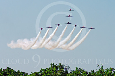 Red Arrows 00030 Red Arrows BAE Hawk British RAF by Stephen W D Wolf