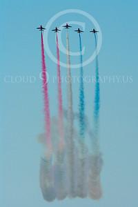 Red Arrows 00052 Red Arrows BAE Hawk British RAF by Stephen W D Wolf