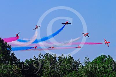 Red Arrows 00046 Red Arrows BAE Hawk British RAF by Stephen W D Wolf