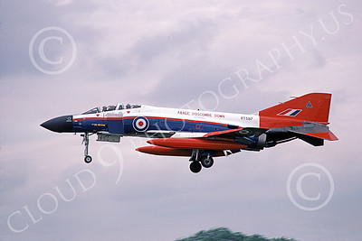 F-4Forg 00214 McDonnell Douglas F-4 Phantom II British RAF XT597 7-1985 military airplane picture by Wilfreid Zetsche
