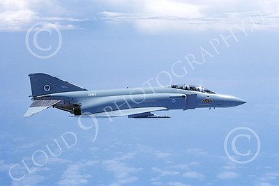 F-4Forg 00210 McDonnell Douglas F-4J Phantom II British RAF ZE352 8-1984 military airplane picture by Jan C Jacobs