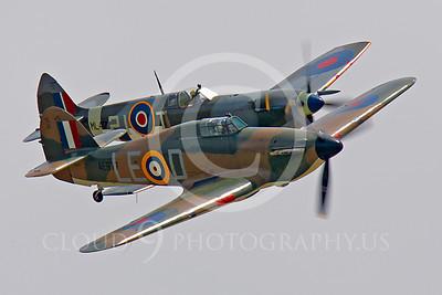 WB - Hawker Hurricane 00076 Hawker Hurricane and Vickers-Supermarine Spitfire British RAF warbird markings by Peter J Mancus