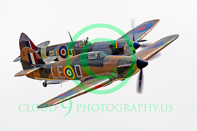 WB - Hawker Hurricane 00060 Hawker Hurricane and Vickers-Supermarine Spitfire British RAF warbird markings by Peter J Mancus