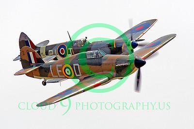 WB - Hawker Hurricane 00060 Hawker Hurricane and Vickers-Supermarine Spitfire British RAF warbird markings by Peter J Mancus