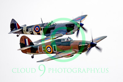 WB - Hawker Hurricane 00044 Hawker Hurricane British RAF warbird markings and Vickers-Supermarine Spitfire British RAF warbird markings by Peter J Mancus