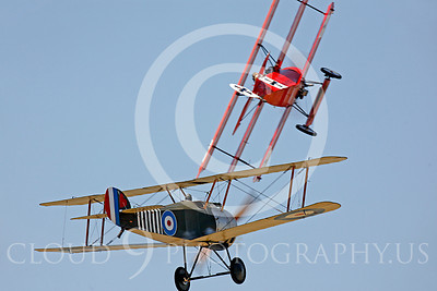 WWI - Sopwith Camel 00024 British Sopwith Camel and German Fokker DR1 Tri-Plane by Peter J Mancus