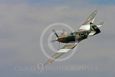WB - Vickers-Supermarine Spitfire 00204 Vickers-Supermarine Spitfire British RAF World War II fighter warbird by Stephen W D Wolf