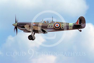 WB - Vickers-Supermarine Spitfire 00184 Vickers-Supermarine Spitfire British RAF warbird by Stephen W D Wolf