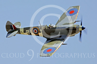 WB - Vickers-Supermarine Spitfire 00254 Vickers-Supermarine Spitfire British RAF World War II fighter warbird by Peter J Mancus