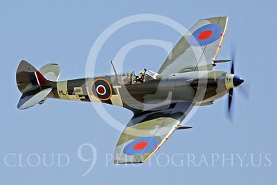 WB - Vickers-Supermarine Spitfire 00254 Vickers-Supermarine Spitfire British RAF World War II fighter warbird by Peter J Mancus