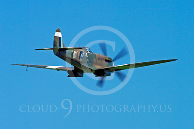 WB - Vickers-Supermarine Spitfire 00302 Vickers-Supermarine Spitfire British RAF World War II fighter warbird by Stephen W D Wolf