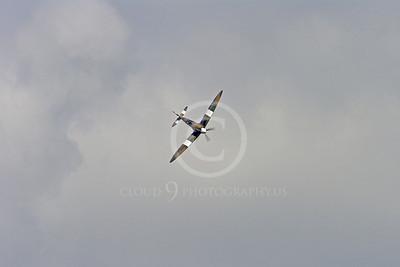 WB - Vickers-Supermarine Spitfire 00300 Vickers-Supermarine Spitfire British RAF World War II fighter warbird by Stephen W D Wolf