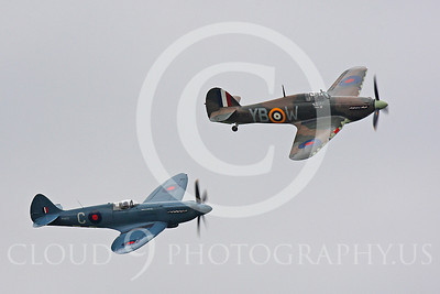WB - Vickers-Supermarine Spitfire 00244 Hawker Hurricane and Vickers-Supermarine Spitfire British RAF warbirds by Peter J Mancus