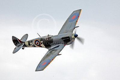 WB - Vickers-Supermarine Spitfire 00206 Vickers-Supermarine Spitfire warbird in flight, by Peter J Mancus