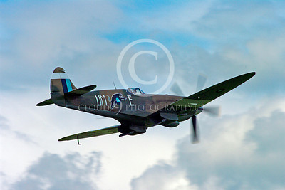 WB - Vickers-Supermarine Spitfire 00258 Vickers-Supermarine Spitfire British RAF World War II fighter warbird by Stephen W D Wolf