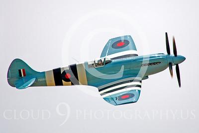 WB - Vickers-Supermarine Spitfire 00296 Vickers-Supermarine Spitfire British RAF warbird by Peter J Mancus