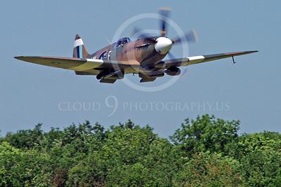 WB - Vickers-Supermarine Spitfire 00208 Vickers-Supermarine Spitfire British RAF World War II fighter warbird by Stephen W D Wolf