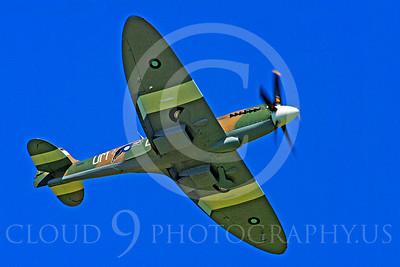 WB - Vickers-Supermarine Spitfire 00266 Vickers-Supermarine Spitfire British RAF World War II fighter warbird by Stephen W D Wolf