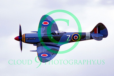WB - Vickers-Supermarine Spitfire 00182 Vickers-Supermarine Spitfire British RAF warbird by Peter J Mancus