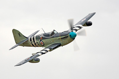 WB - Fairey Firefly 00036 Fairey Firefly British Royal Navy warbird in flight, by Peter J Mancus