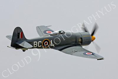 WB - Hawker Sea Fury 00050 Hawker Sea Fury Canadian Armed Forces Korean War era fighter warbird Argonaut by Peter J Mancus