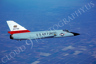 F-106ANG 00048 Convair F-106A Delta Dart California Air National Guard 80790 October 1981 by Peter J Mancus