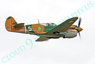 WB - Curtiss P-40 00092 Curtiss P-40 Warhawk warbird by Peter J Mancus